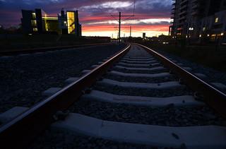 Sunrise on the LRT Tracks