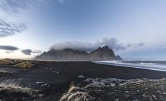 Wild Evening at Stokksnes (Nick L) Tags: stokksnes stokkness iceland seascape landscape clouds windy blacksand beach vestrahorn vesturhorn storm dunes hofn litlahorn canonef1124f4l