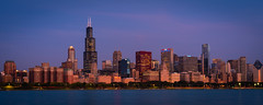 Chicago Skyline (James Duckworth) Tags: chicago skyline lake water buildings architecture sunrise dawn city urban