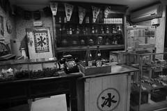 Where's My Popcorn? (superzookeeper) Tags: formosa 5dmk4 5dmkiv canoneos5dmarkiv ef2470mmf28liiusm eos digital taiwan tw jiufen shengpingtheater theater cinema snacks popcorn kiosk bnw blackandwhite monochrome street