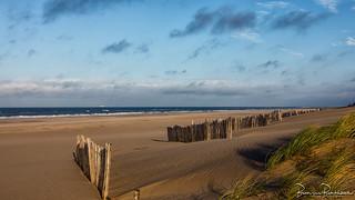 An empty beach in October