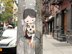 Misfits (aestheticsofcrisis) Tags: street art urban intervention streetart urbanart guerillaart graffiti postgraffiti new york ny nyc manhattan soho lowereastside phoebenewyork wheatpaste pasteup