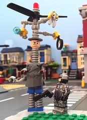 Good Cop/Bad Cop (Hobbestimus) Tags: lego robocop inspectorgadget moc 80s cartoon toys movie
