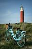 Eierland lighthouse (Irene TP) Tags: netherlands texel lighthouse red blue colors nikond7100 nikon bike