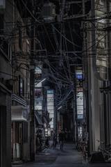 Matrix (karinavera) Tags: city night photography cityscape urban ilcea7m2 japan street cables matrix people kyoto walking