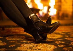 feet to the fire (desertdragon) Tags: rabia boots stanleyhotel fireplace boomi colorado rockymountains spectrum stanley