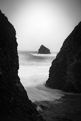 Between the Rocks (APGougePhotography) Tags: blackandwhite bw ireland rocks longexposure le ballydowane copper coast storm moody adobe adobelightroom lightroom nikon nikond800 d800 fine art ballydwan