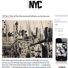 UR New York at Pop International Galleries (LoisInWonderland) Tags: urnewyork mikebaca 2esae fernandoromero urbanart popart nyc popinternationalgalleries statueofliberty mixedmedia artexhibition