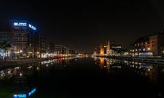 Duisburg Innenhafen (st.weber71) Tags: lzb langzeitbelichtung lichter led licht hafen illumination innenhafen d800 deutschland duisburg germany gebäude beleuchtung spiegelung wasser wasserspiegelung nikon nrw nachts nightshot nightlights nacht nachtfotografie nachtaufnahme kräne nachthimmel