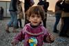 The kid : refugee camp, Iraq (rvjak) Tags: irak iraq middleeast moyenorient camp de réfugiés refugee kid enfant child fille girl poor sad pauvre triste seul lonely lost perdu d750 nikon collection color schtroumpf puffy smurf nik