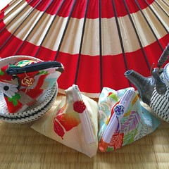 Coin Purses (Sam-in-Japan) Tags: pottery onta paperparasol waaaaaaay etsy japanese obi kimono recycle upcycle remake antique vintage coinpurse handmade