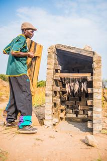 Fish in smoking oven, Zambia. Photo by Chosa Mweemba.