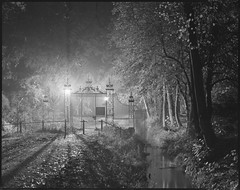 you bet its wet (steve-jack) Tags: sinar p 210mm ilford delta 100 film lf large format 4x5 5x4 sheet perceptol cambridge rain wet gates backs dawn night long exposure epson v500