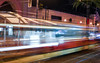 why don't they stop? (pbo31) Tags: sanfrancisco bayarea california nikon d810 night dark november 2017 fall color boury pbo31 city urban embarcadero lightstream traffic motionblur street roadway muni streetcar tracks historic littleitaly platform stop waiting passing