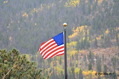 October 1, 2017 - Old Glory along the Peak to Peak Highway. (Ed Dalton)
