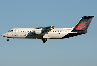 OO-DWL Brussels Airlines British Aerospace Avro 146-RJ100