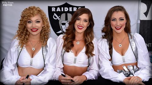2017 Oakland Raiderettes Stephanie, Charlotte & Catherine