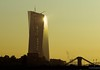 EZB (frankdorgathen) Tags: ezb europäischezentralbank skyscraper building architecture high tall height sunrise dawn sun light sky outdoor autumn fall yellow city town urban frankfurt ostend hessen