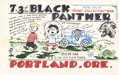 The Viking: Black Panther - Portland, Oregon (73sand88s by Cardboard America) Tags: vintage qsl qslcard cbradio cb theviking peanuts dirty turtle oregon