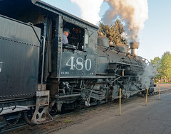 K-36 loco 480 prepares to haul train out of Durango R1003967Durango & Silverton RR (Recliner) Tags: baldwin dsng drg