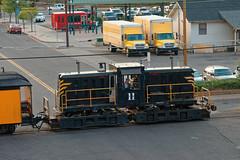 Diesel loco 11 shunts the stock R1005143 Durango & Silverton RR (Recliner) Tags: baldwin dsng drg