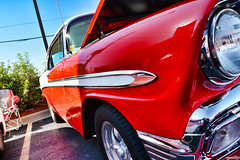 1956 Chevy Bel Air (Chad Horwedel) Tags: 1956chevybelair chevybelair chevrolet chevy belair classic car boocruise midnightmods rosatispizza yorkville illinois