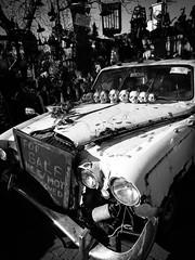 Happy Halloween! (Siobhán Bermingham) Tags: louth blackandwhite skulls car halloween fitzpatricks bw ireland spooky carlingford