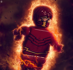Flash 3000 (Jezbags) Tags: lego legos toy toys macro macrophotography macrodreams macrolego canon60d canon 60d 100mm closeup upclose dc justiceleague flash fire lightening flares red 3000 legodc dclego