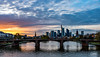 Mainhattan at Sunset (meiks_aus_d) Tags: frankfurt skyline main ffm mainhattan sunset sonnenuntergang blauestunde landscape outdoor city canon canonphotography stadt himmel wasser wolkenkratzer gebäude fluss