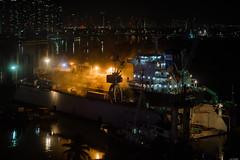Night shift (Rico the noob) Tags: dof night 50mm saigon street d500 city outdoor boats vietnam urbanexploration urban river travel reflection boat 2017 published 50mmf18 water