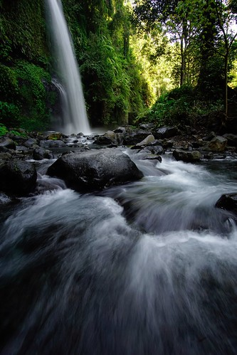 Sendang Gile Waterfall, Lombok, Indonesia.