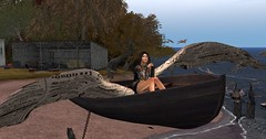 If boats had wings.... (pulpfictionstudio) Tags: secondlife art deciduous wings autumn birds sea
