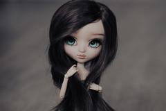 New wig for Ophélie (Loony-Doll) Tags: pullip fc full custo customisée custom sculpt makeup crystaldoll wig eyechips eyelashes obitsu doll dolls groove junplanning