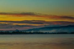 Sunrise Paddle (mclcbooks) Tags: sunrise dawn daybreak morning landscape lake clouds mountains mist chatfieldstatepark lakechatfield colorado fall autumn kayak