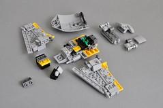 Naboo N-1 Starfighter V2 (Breakdown 2) (Inthert) Tags: naboo lego moc ship star wars n1 phantom menace fighter royal starfighter instructions breakdown astromech sleek smooth