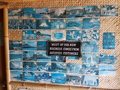 Faded vintage postcards (Chris Jepsen) Tags: hawaiiana losangelescounty tiki polynesianpop hawaiianshirts