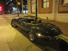 IMG_4143 Vintage E Type in Yaletown (vancouverbyte) Tags: vancouver vancouverbc vancouvercity jaguar