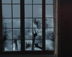 448 Praying Hands (Katrina Yu) Tags: hands selfportrait 2017 365project everydays creepy conceptual surreal fineart windows cemetary fantasy horror