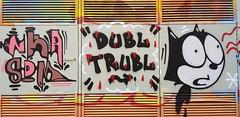 Atak & Caper... (colourourcity) Tags: streetartaustralia streetartnow streetartmelbounre streetart graffiti graffitimelbourne melbourne burncity awesome colourourcity original caper dt dbltrbl dbl trbl felix felixthecat atak atack