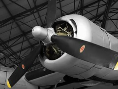 Pratt & Whitney R-1830-41 Twin Wasp two-row 14-cylinder turbosupercharged 30-litre radial, 1200-hp (edk7) Tags: olympuspenliteepl5 edk7 2016 uk england london hendon rafmuseum unitedstatesarmyairforces usaaf sn4450206 consolidatedb24l20foliberator heavybomber fordmotorcowillowrun1944 aviation aircraft plane airplane military piston engine warbird fourengine prattwhitneyr183041twinwasptworow14cylinder30litreturbosuperchargedradial1200hp secondworldwar worldwartwo worldwarii worldwar2 wwii ww2