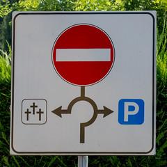 Life's not fair (explored) (ToDoe) Tags: roundabout kreisverkehr noway parking cemetery friedhof oneway einbahnstrase sign