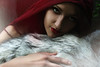 Once upon a time... (Claudia Hantschel) Tags: claudiahantschelphotography claudia hantschel photography portrait red nature woman girl wolf endless love light lighting wolves lips fairytale once upon time woods deep forest redridinghood riding hood littleredridinghood