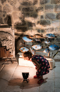 Little Girl Stares into Studio Light - Dubrovnik, Croatia