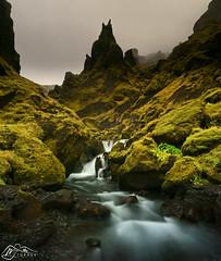 Þakgil (►►M J Turner Photography ◄◄) Tags: þakgil iceland southiceland volcano peak spire pinnacle river stream