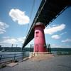 Little Red Lighthouse (eyepenn) Tags: georgewashingtonbridge littleredlighthouse washingtonheights zero2000 pinhole kodakektar