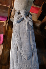 Ecclesiastical Effigy (Glass Horse 2017) Tags: nyorks inglebygreenhow standrews church ecclasiastical effigy stone chalice book chasuble vilksdewrettoncapellan