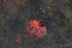 Sh2-132HRGB (Maurizio Cabibbo) Tags: telescope stars astronomy astrophotography night skynight nebula science space cepheus long exposure