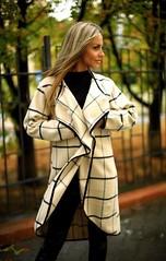 Стильный женский кариган на запах клетка бежевый (arrkareeta) Tags: одежда woman 2016 2012