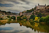 View of Toledo and Alcantara Bridge (Jocelyn777) Tags: buildings monuments bridge rivers reflections autumncolours landscapes cityscapes cityviews toledo spain travel textured