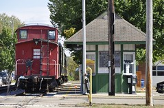 Coopersville, Michigan (4 of 4) (Bob McGilvray Jr.) Tags: coopersville michigan coopersvillemarnerailway atchisontopekasantafe grandtrunkwestern cmry atsf gtw caboose steel cupola red railroad train tracks tourist scenic